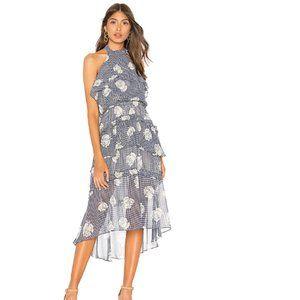 Misa LA Anca Floral Ruffle Tiered Midi Dress